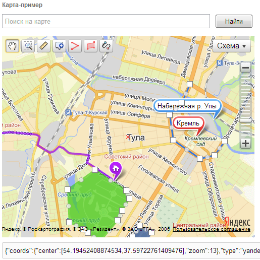 Яндекс карты для Modx revo